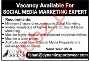 Social Media Marketing Expert Jobs in Lahore