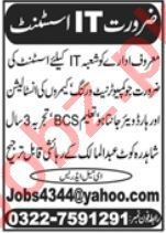 IT Assistant Jobs in Lahore