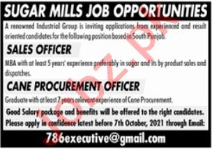 Procurement Officer Sales Officer Jobs in Lahore