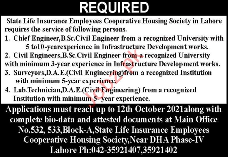 State Life Insurance Employees Cooperative Housing Jobs 2021