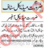 Medical Officer & Pharmacist Jobs 2021 in Lahore