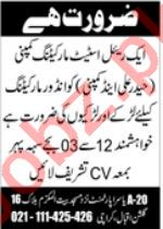 Indoor Marketing Officer & Salesman Jobs 2021 in Karachi
