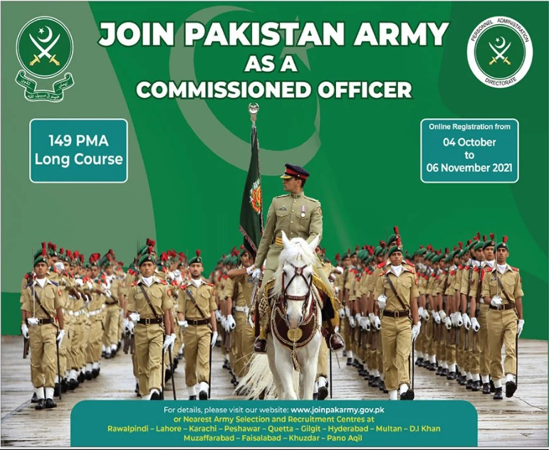 149 PMA Long Course Army Commissioned Officer Jobs 2021
