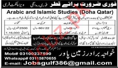 Quran Teacher & Qari Jobs 2021 in Qatar