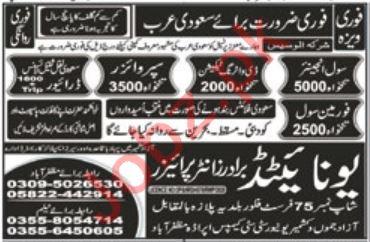 Civil Engineer & Supervisor Jobs 2021 in Saudi Arabia