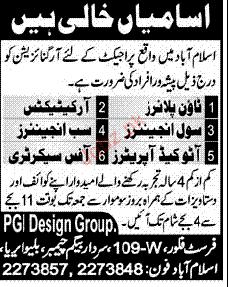 Town Planner, Architects, Civil Engineer Job Opportunity