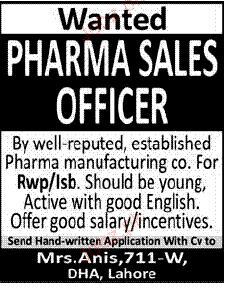 Pharma Sales Officer Job Opportunity