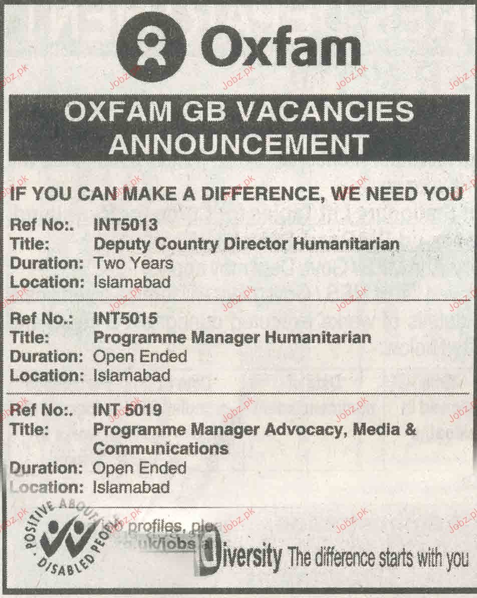 Deputy Country Director Humanitarian Job Opportunity
