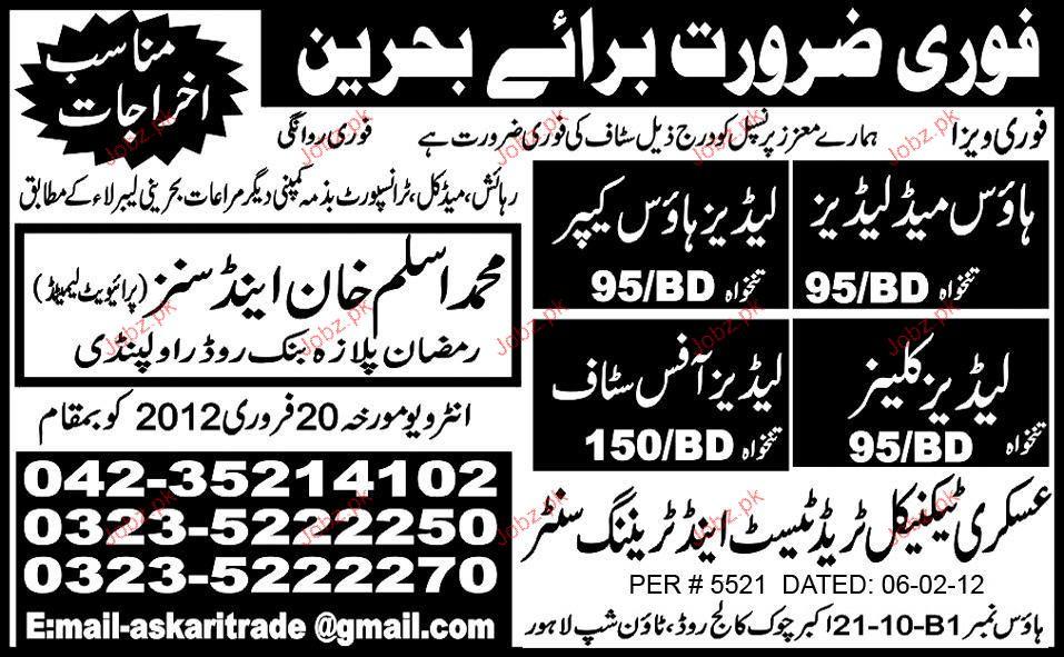 House Maid Ladies, Ladies House Keeper Job Opportunity