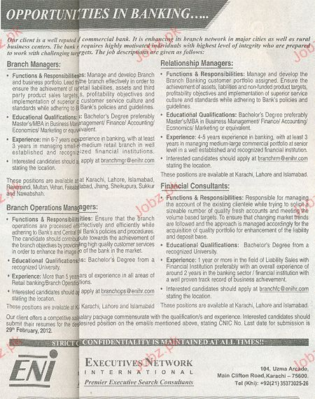 Branch Manager, Relationship Managers Job Opportunity