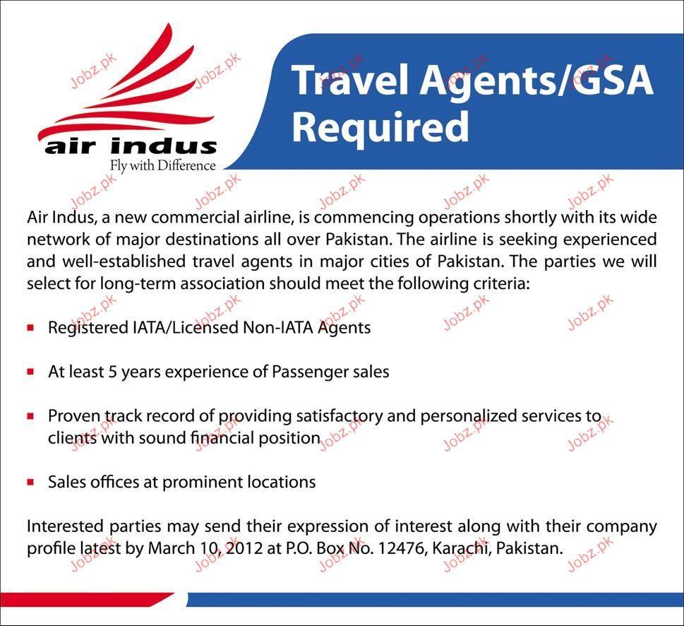 Travel Agents / GSA Job Opportunity