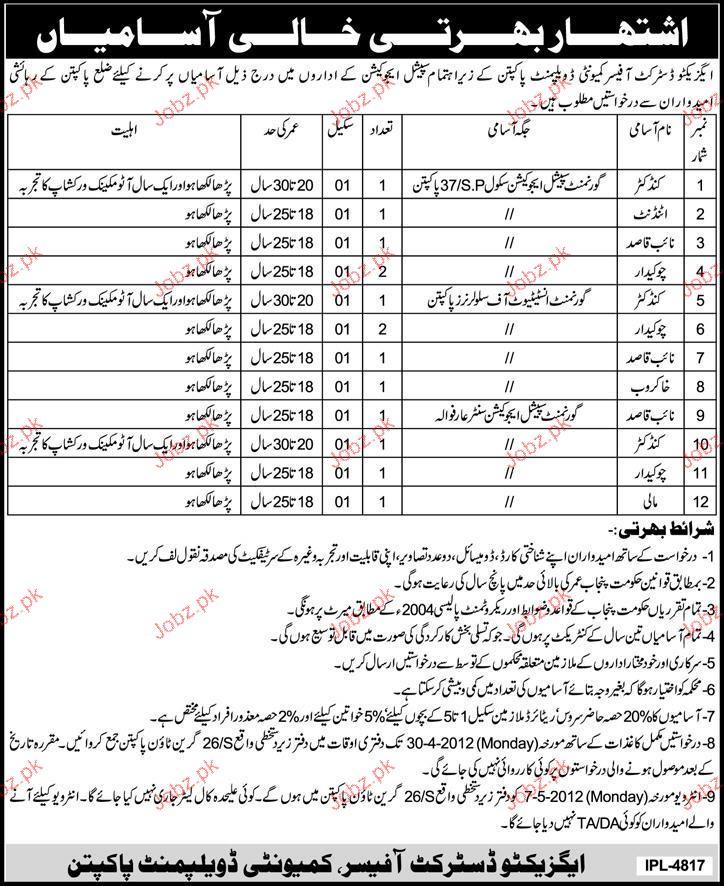 Conductor, Attendant, Naib Qasid, Chawkaidar Wanted