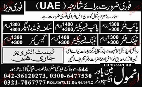 Pipe Fitters, Pipe Fabricators, Tank Fitters Job Opportunity
