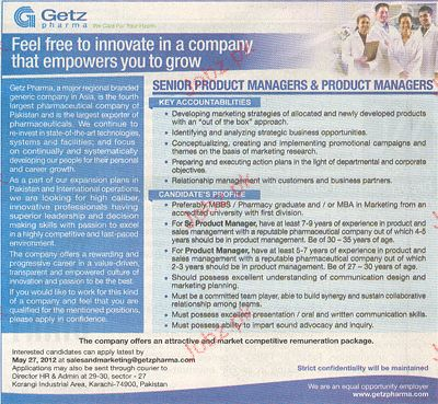 Senior Product Manager & Product Manager Job Opportunity