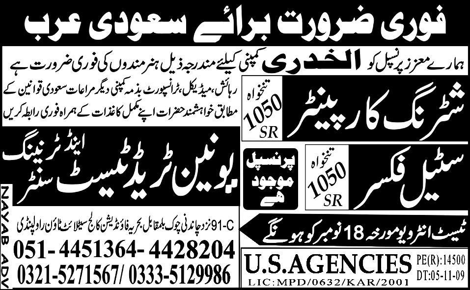 Shuttering Car painter and Steal Fixer Jobs