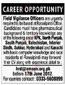 Field Vigilance Officers Job Opportunity