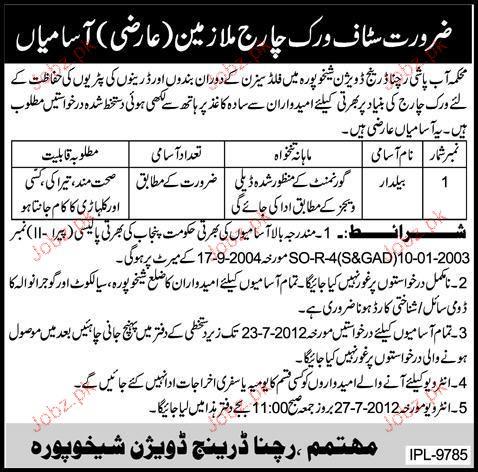 Baildar Job Opportunity