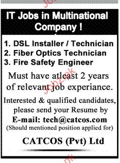 DSL Installer / Technicians, Fiber Optics Technicians Wanted