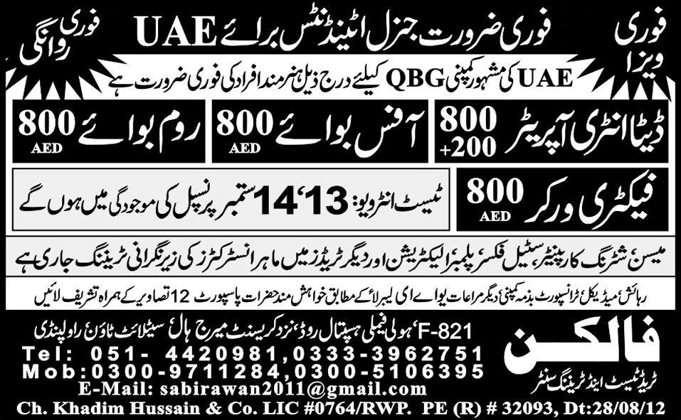 Data Entry Operators, Office Boys, Room Boys Required
