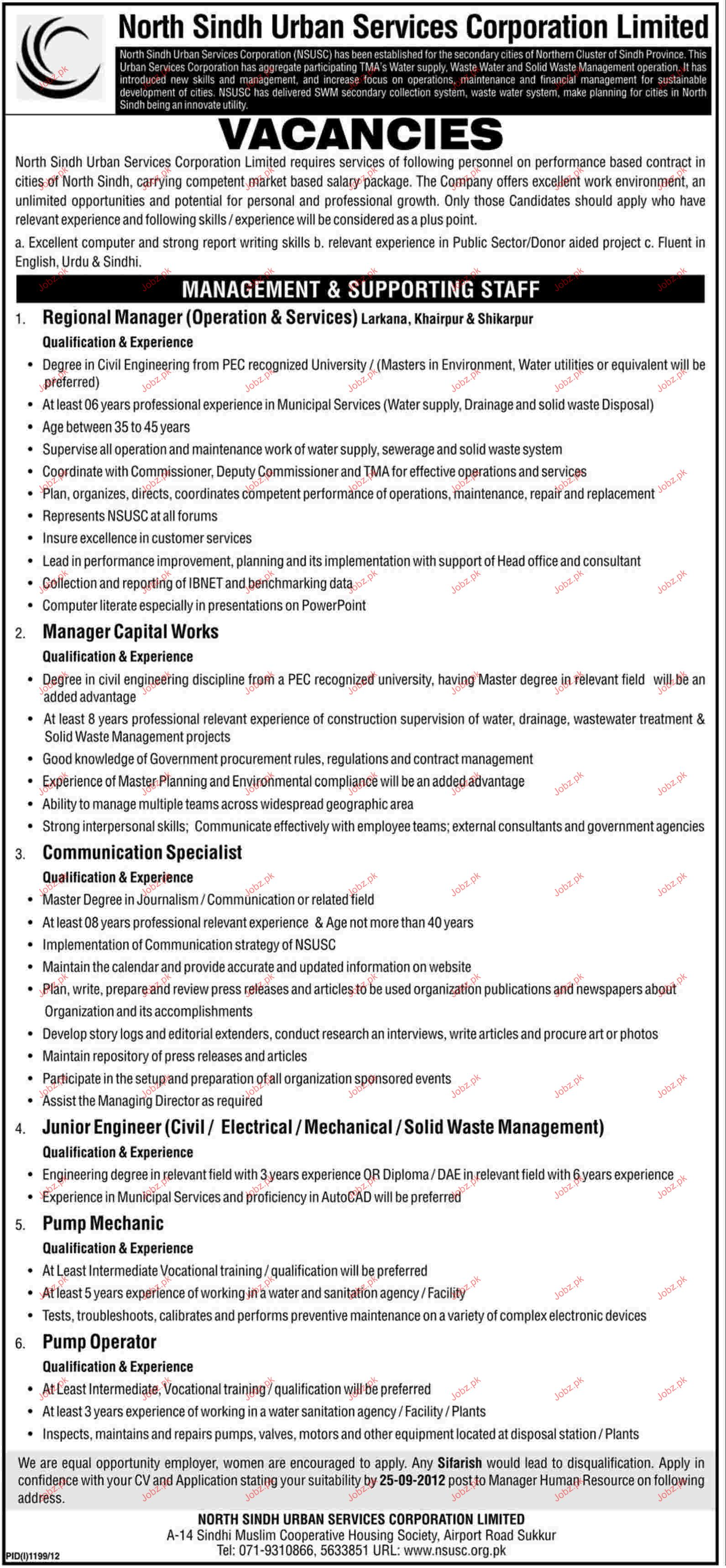 Regional Manager, Manager Capital Works Job Opportunity