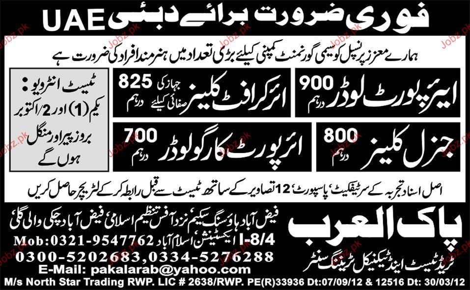 Airport Loaders, Aircraft Cleaners Job Opportunity