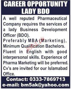Lady Business Development Officer Job Opportunity