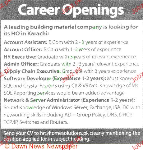 Accountant Assistant, Accounts Officer Job Opportunity