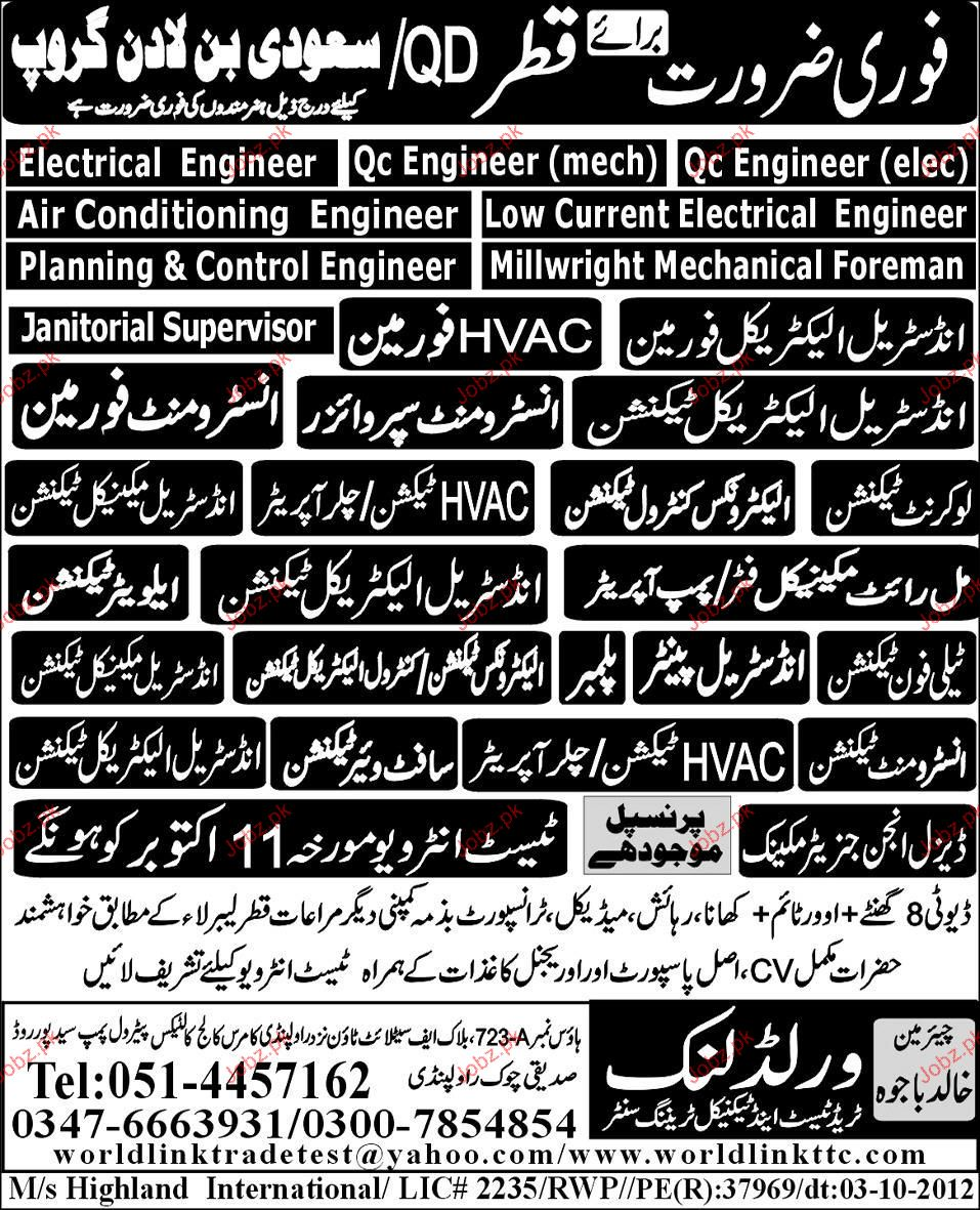 Industrial Electrical Foreman, Instrument Supervisor Wanted