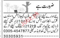 Phone Operator, Office Assistant, Clerk Job Opportunity