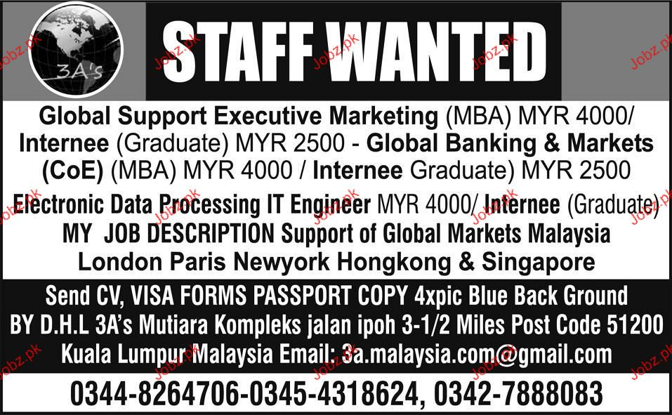 Internee, COE, Electronic Data Processing IT Engineer Wanted