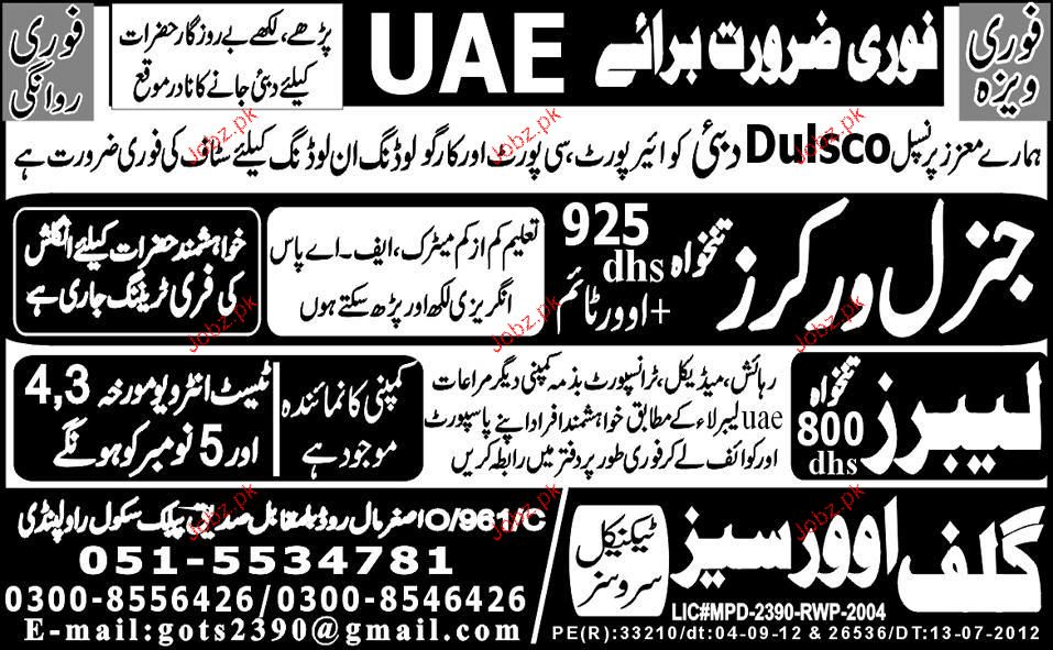 General Workers Job Opportunity