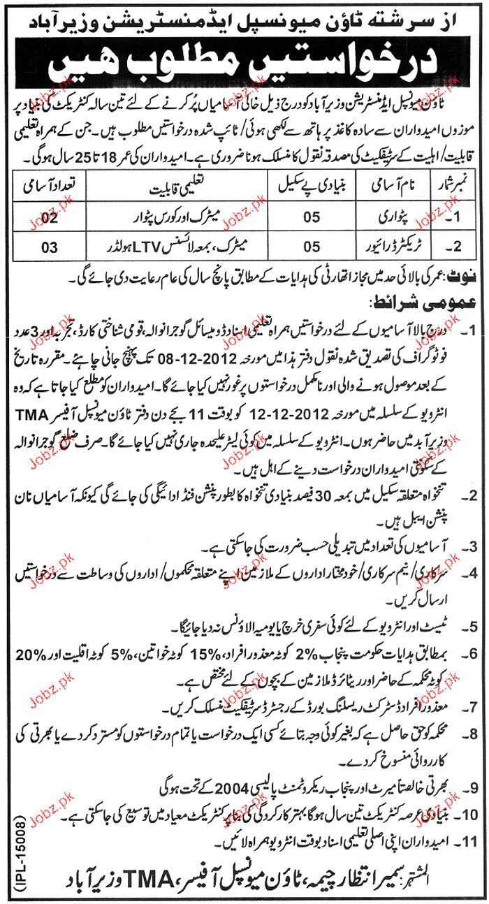 Patwari and Tractor Drivers Job Opportunity