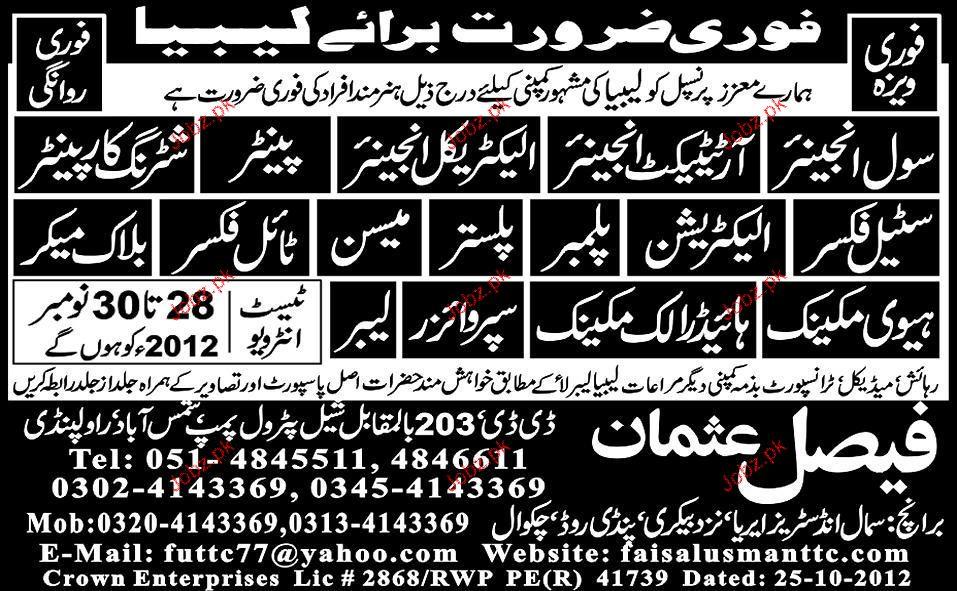 Civil Engineer, Electrical Engineers, Painters Required