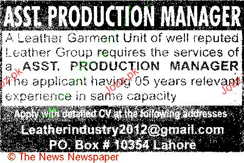 Assistant Production Manager Job Opportunity