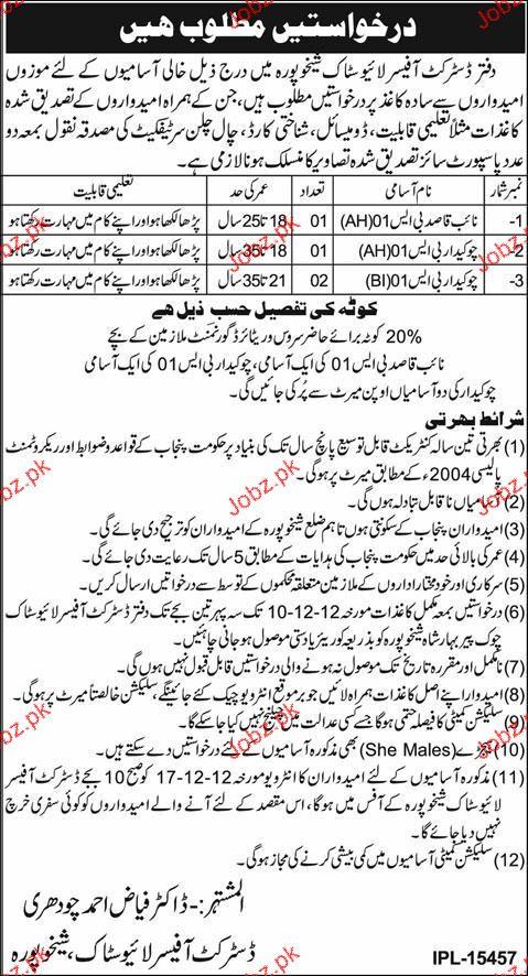 Naib Qasid and Chawkidars Job Opportunity