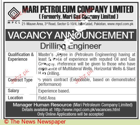 Drilling Engineers Required