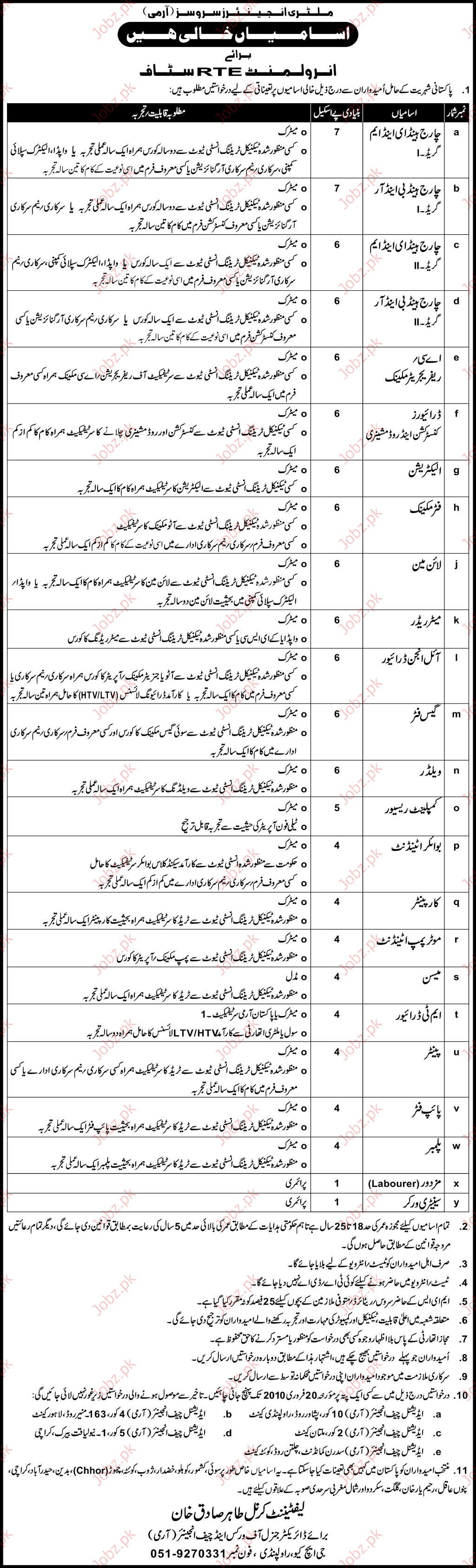 Military Engineering Services Job Opportunities