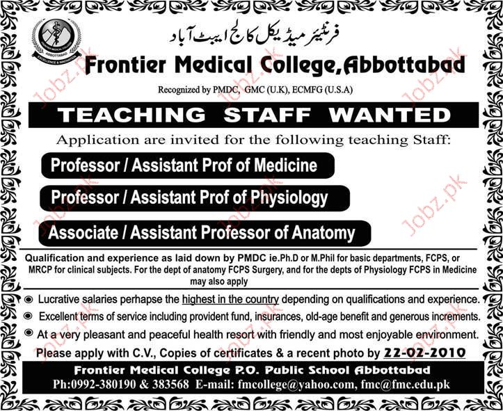 Frontier Medical College staff required