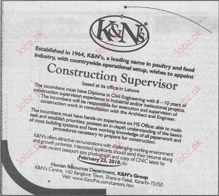 K&N's Group Staff required