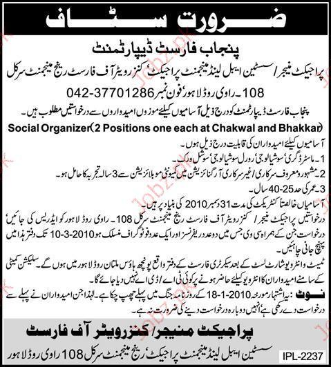 Punjab Forest Department Job Opportunities