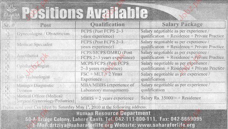 Sahara for life Trust job Opportunity