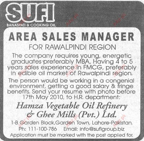 Sales and Marketing Staff  Required SUFI Banaspati