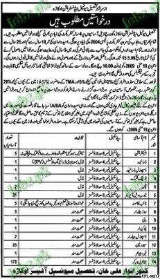 Tehsil Muncipal Administration Jobs
