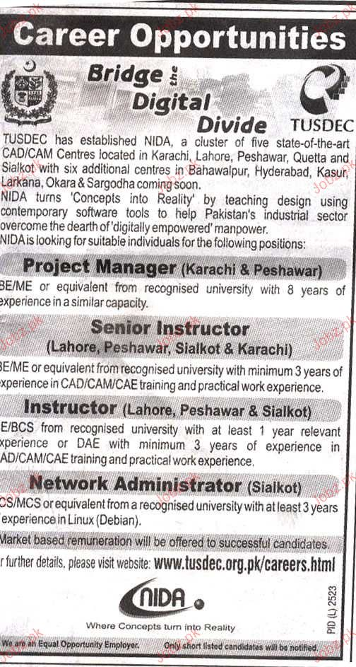 Project Manager, Senior Instructor Job Opportunity
