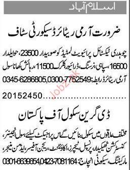 Driver, Clerk, Civil Engineer, Principal Job Opportunity