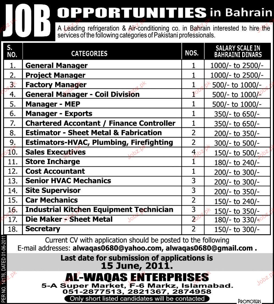 General Manager, Project Manager Job Opportunity