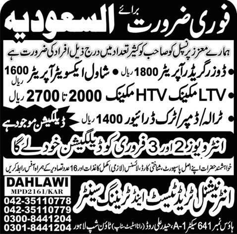 Technical Staff Required