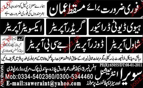 Heavy Duty Driver, Grader Operator Job Opportunity