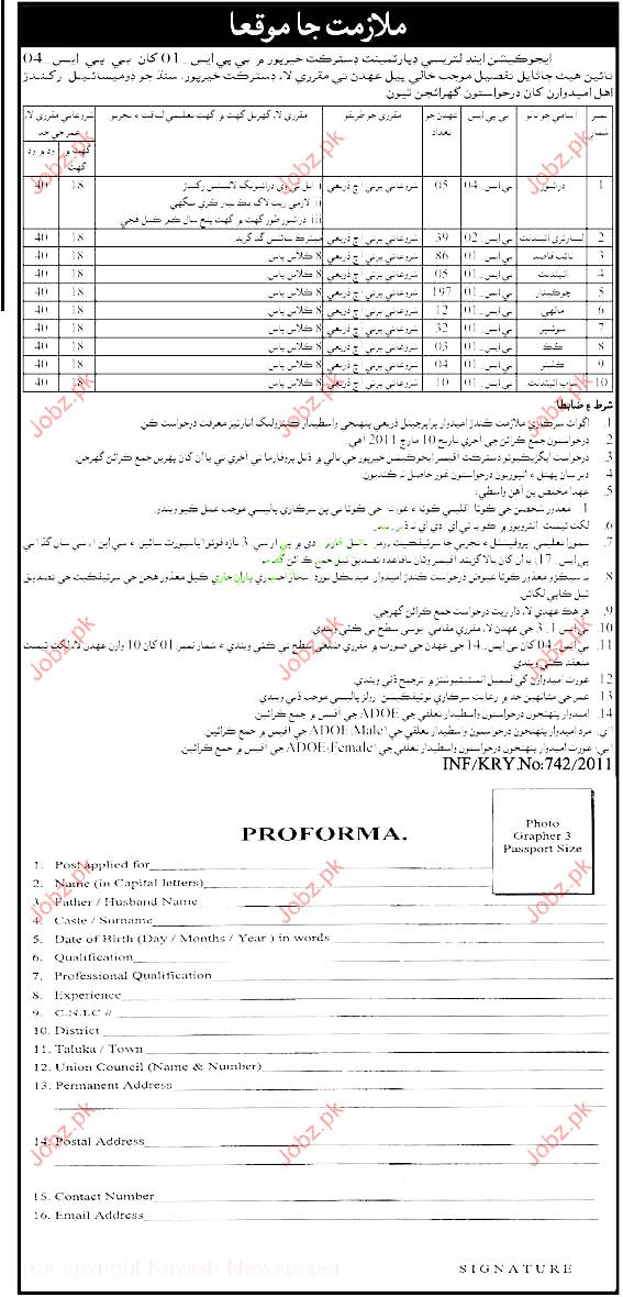 Driver, Lab Assistant, Naib Qasid, Attendant Job Opportunity