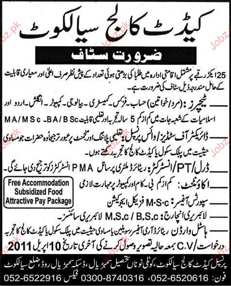 Teacher, Vice Principal, PTI, Accountant Job Opportunity